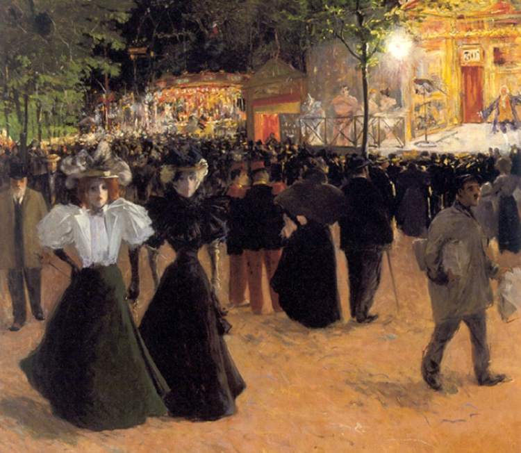 Luis Abel Trichet. Festivities at Pigalle