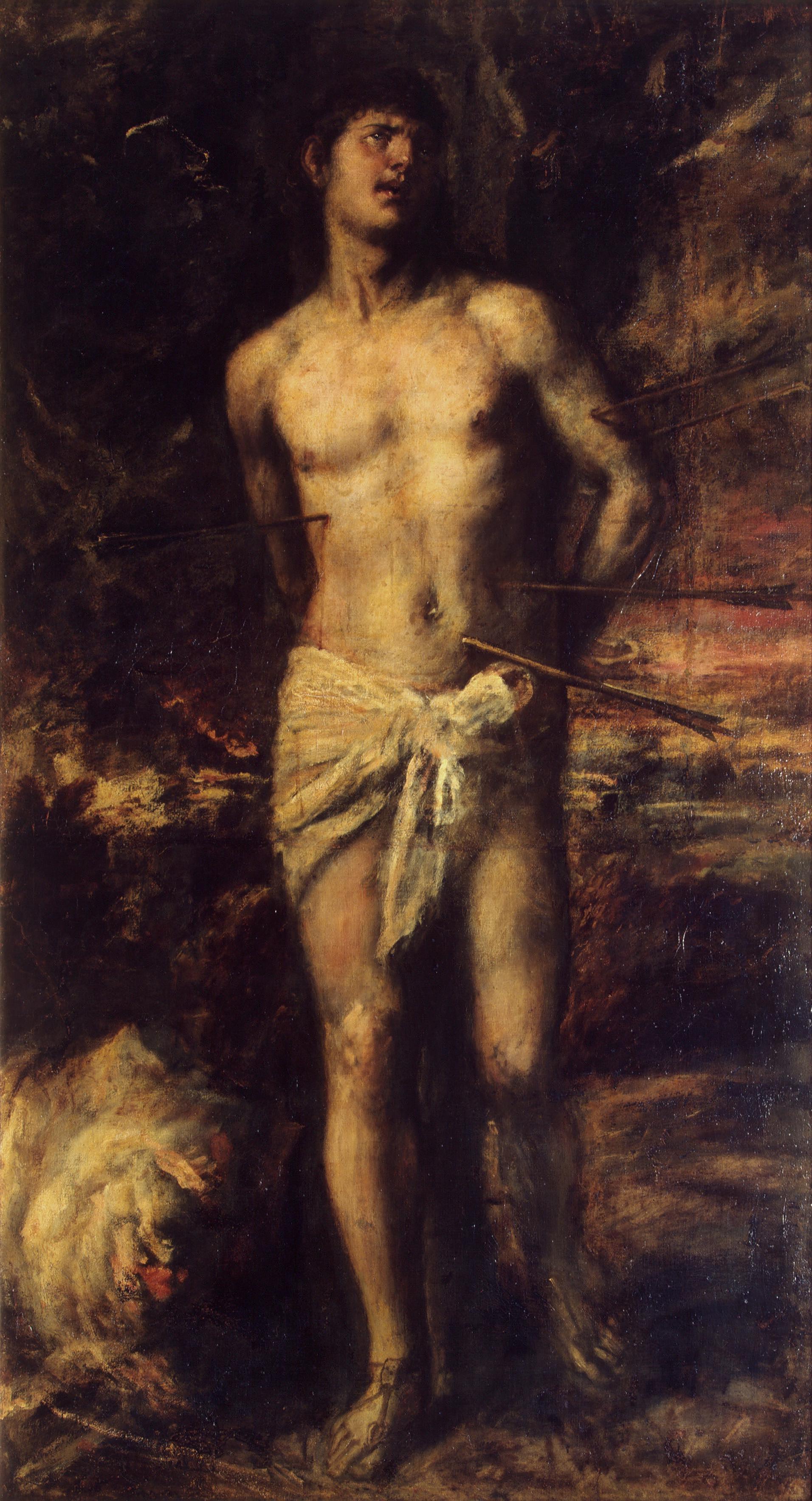 Titian Vecelli. Saint Sebastian
