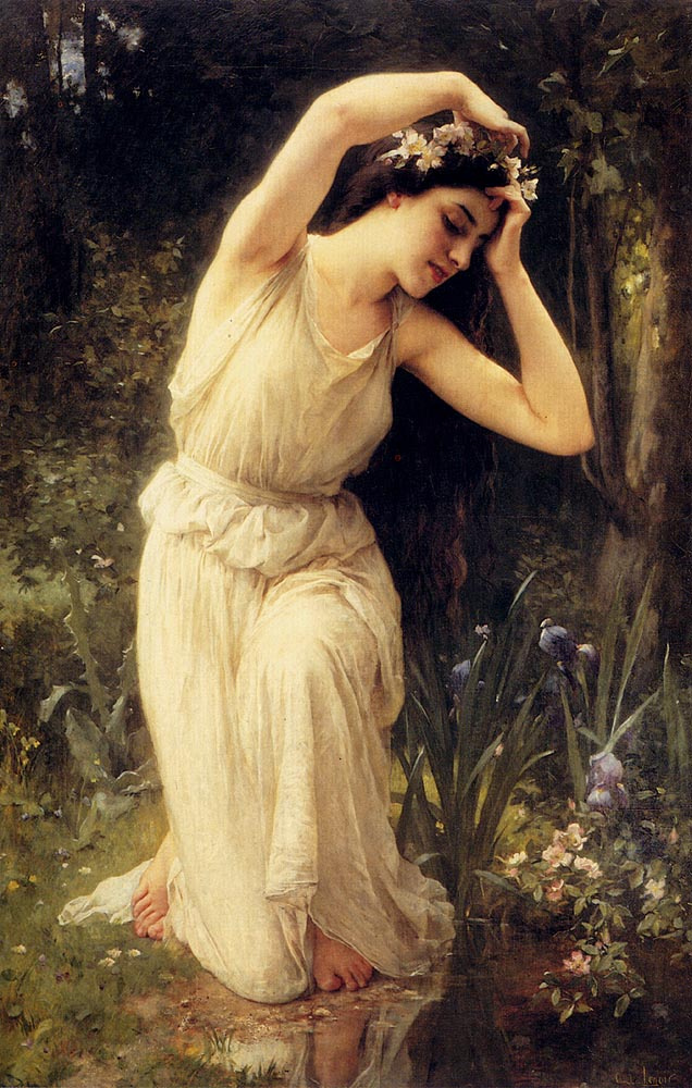 Charles-Amable Lenoir. Nymph in the woods