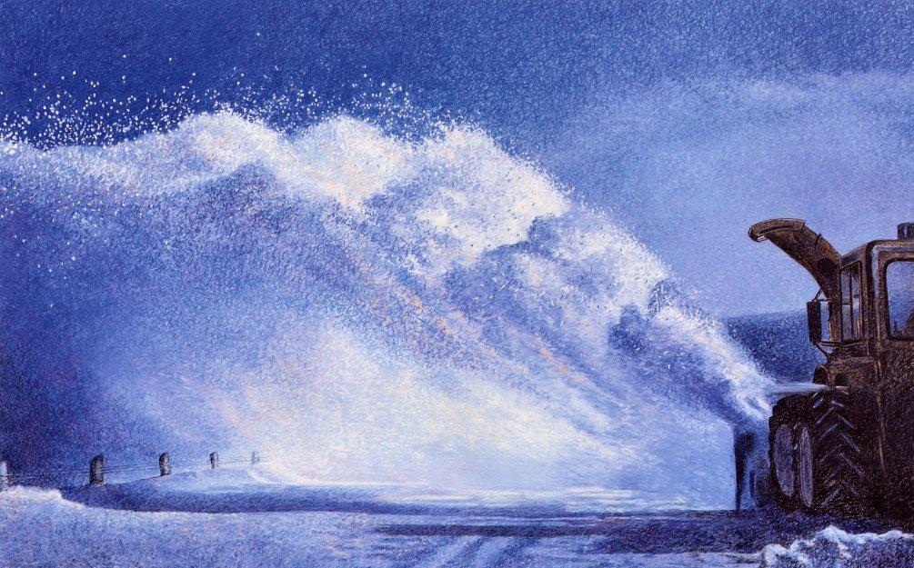 Мэри Пратт. Снегоочиститель на Столовой горе