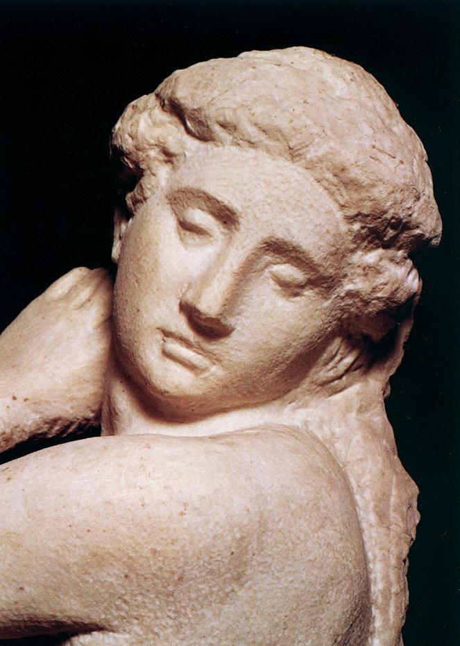 Микеланджело Буонарроти. Давид-Аполлон. Фрагмент.