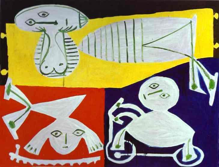 Пабло Пикассо. Франсуаза Жило с Клодом и Паломой