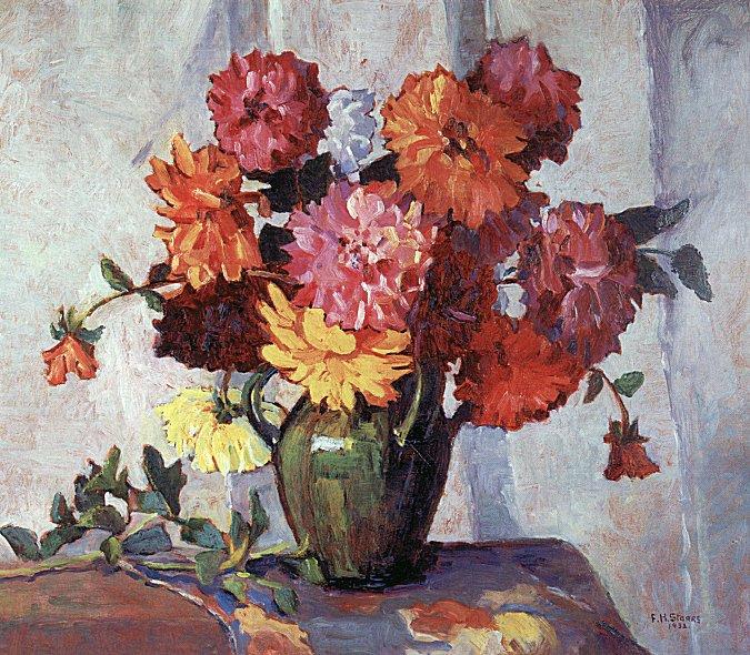 Фрэнсис Хадсон Сторрс. Красные цветы