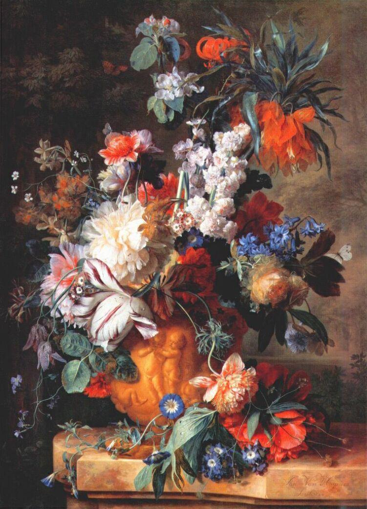 Ян ван Хейсум. Букет цветов в урне