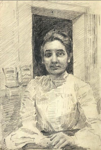 Mikhail Vrubel. Portrait of a woman (the Matron of the clinic of the Moscow University)