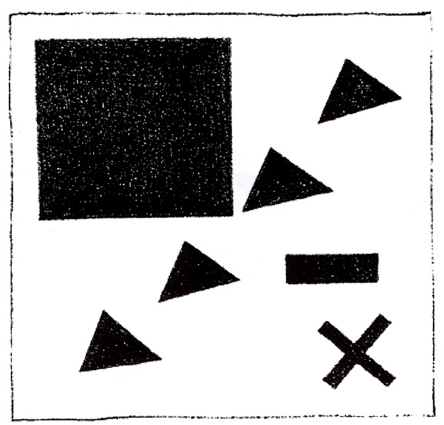 Kazimir Malevich. Supremacist group, using the triangle