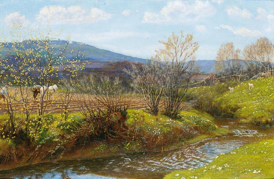 Артур Хьюз. Река