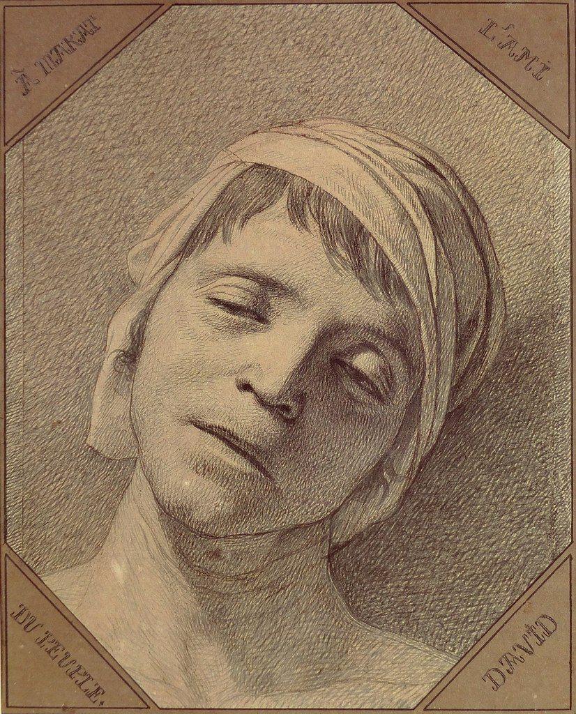 Jacques-Louis David. Dead Marat