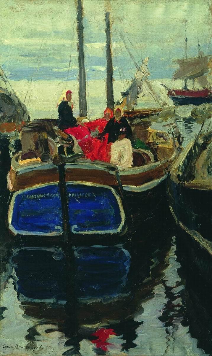 Sergey Arsenievich Vinogradov. Pier on the Volga