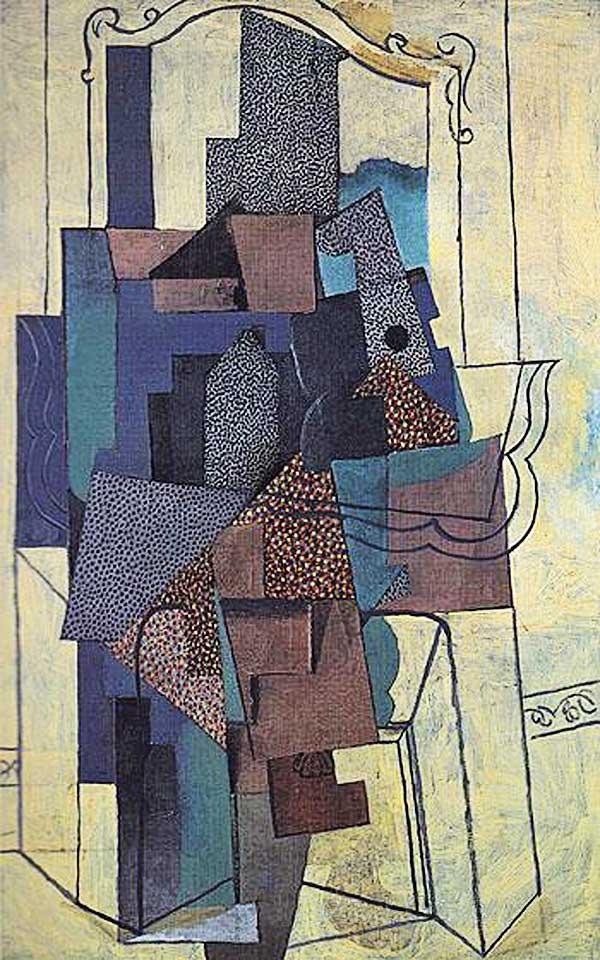 Пабло Пикассо. Человек у камина
