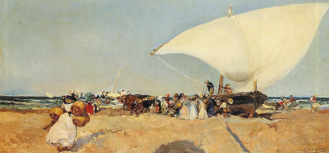 Хоакин Соролья (Соройя). Прибытие лодок