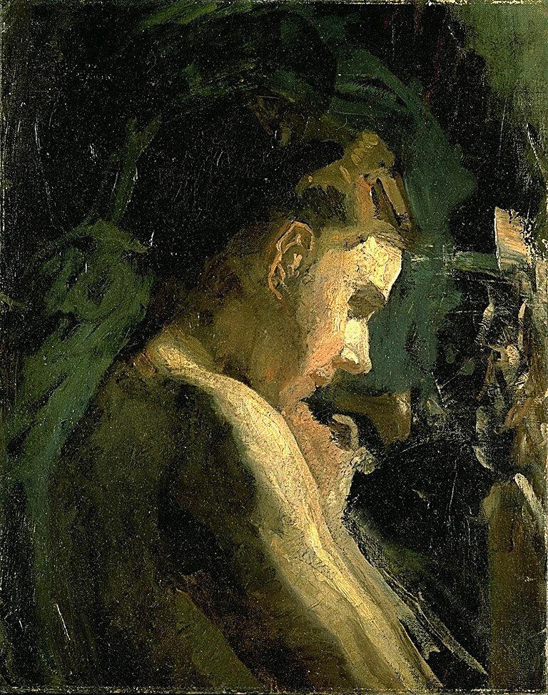 Thomas Eakins. Portrait of a girl. Etude