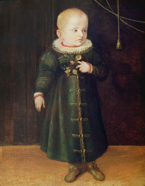 Sofonisba Anguissola. Portrait of a child with flowers
