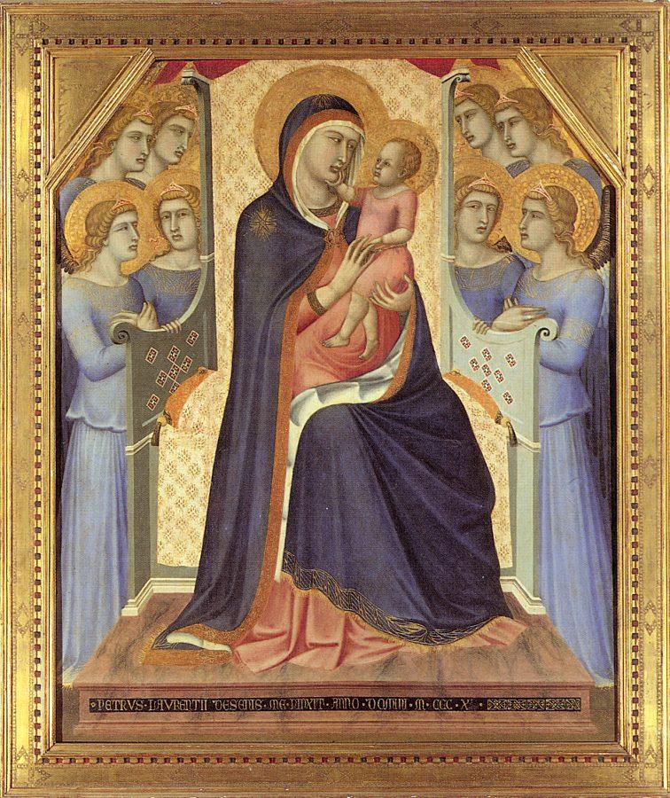 Пьетро Лоренцетти. Дева с младенцем