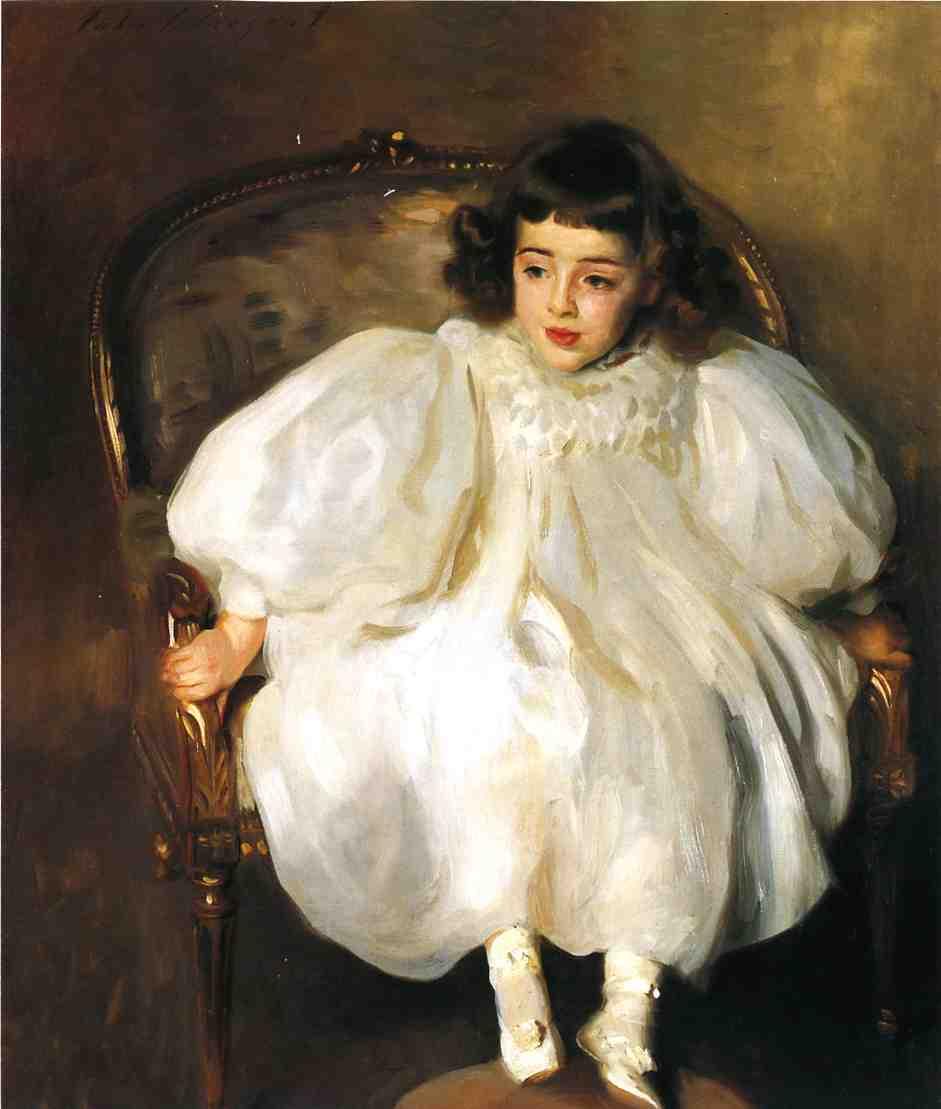 John Singer Sargent. Waiting: A Portrait Of Frances Winifred Hill