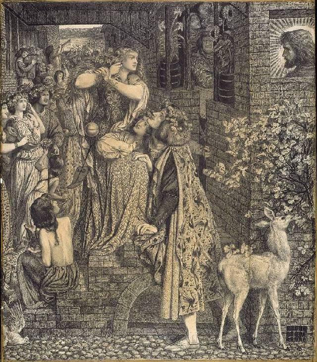 Данте Габриэль Россетти. Мария Магдалина у двери Симона Фарисея