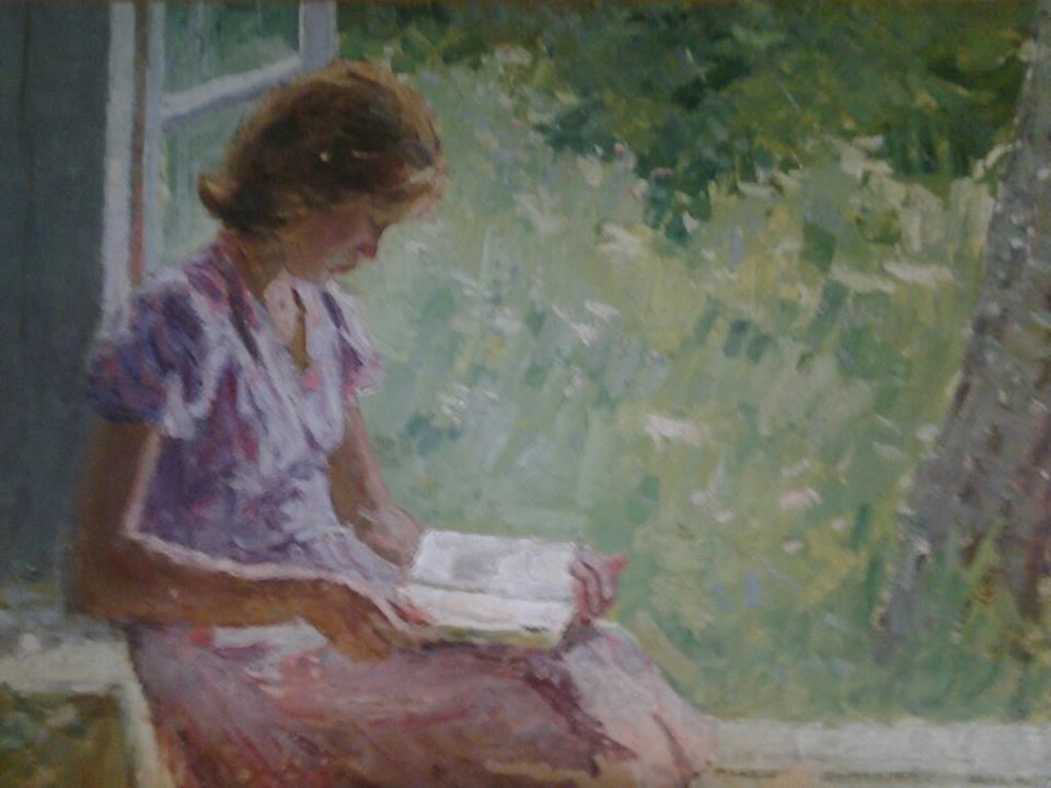 Boris Nikolaevich Loshkarev. Girl with a book