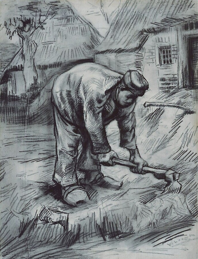 Vincent van Gogh. Peasant with a hoe