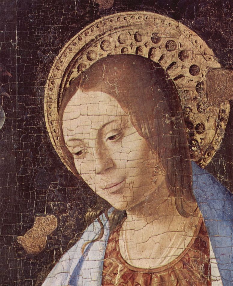 Антонелло да Мессина. Благовещение, фрагмент
