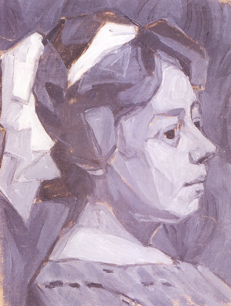 Alexander Konstantinovich Bogomazov. Portrait of the artist's wife (Wanda Monastery)