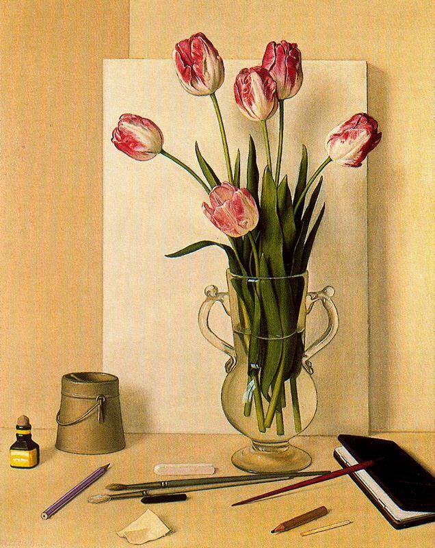 Антонио Буэно. Натюрморт с тюльпанами 2