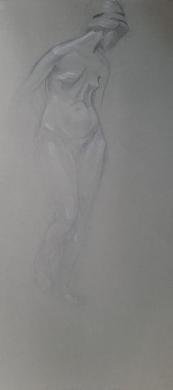 Natalia Nikolaevna Agapieva - Zakharova. Model. Gray background.