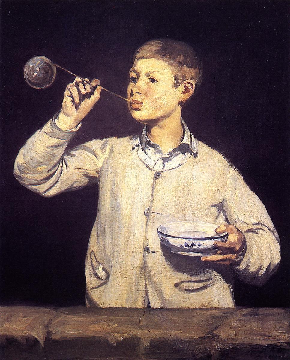 Edouard Manet. Boy blowing soap bubbles
