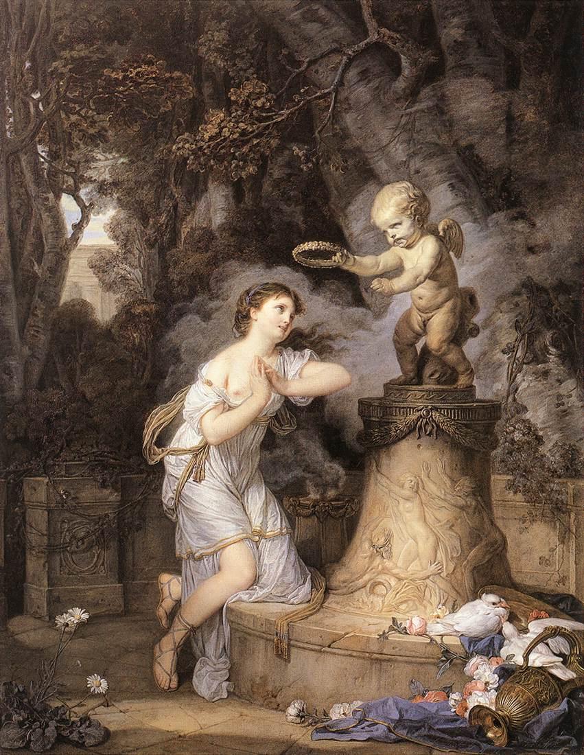 Jean-Baptiste Greuze. The Vow Of Cupid