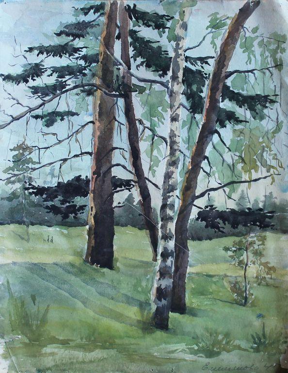 Eugene Mikhailovich Emelyanov. Лесной пейзаж