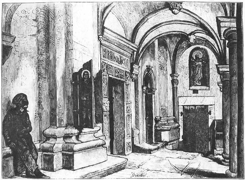 Ян Матейко. Львов. Успенская православная церковь, вход со двора
