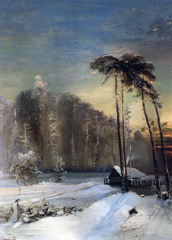 Алексей Кондратьевич Саврасов. Лес в инее