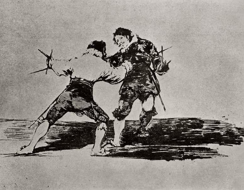 Франсиско Гойя. Дуэль на староиспанский манер