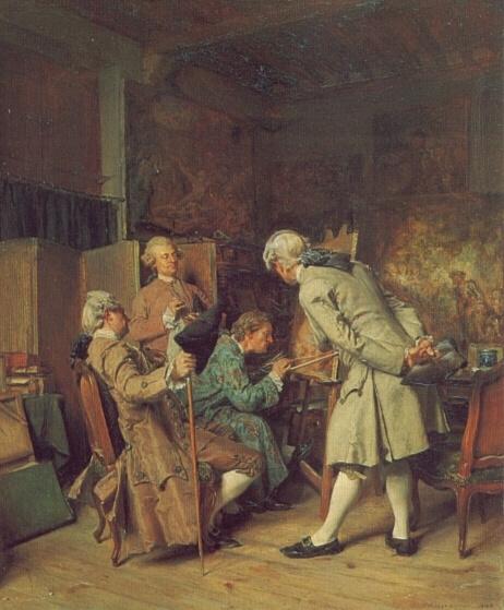 Жан-Луи-Эрнест Месонье. Любители живописи