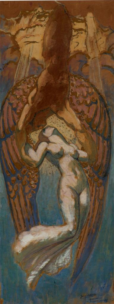 Жан Дельвиль. Бог побежден Любовью. Эскиз II