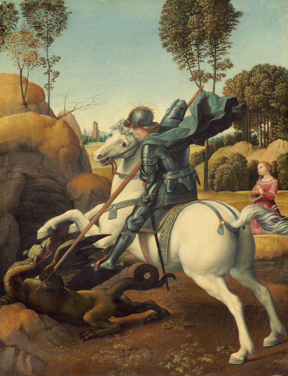 Raphael Sanzio. St. George and the Dragon