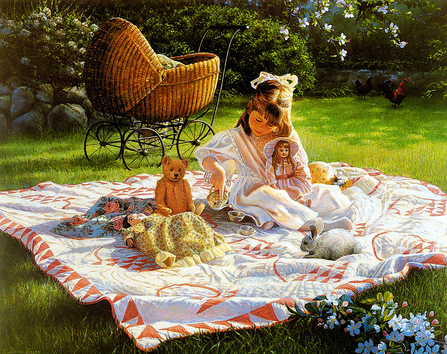 Donna Green. Lunch on the grass