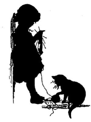 Елизавета Меркурьевна Бём (Эндаурова). Девочка и кошка