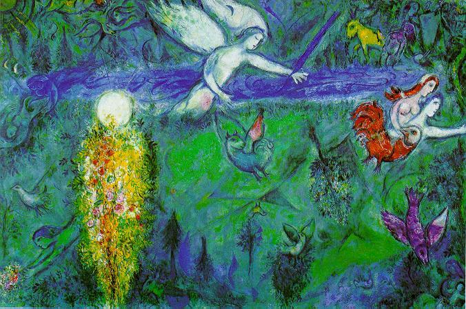 Марк Захарович Шагал. Адам и Ева изгоняются из Рая