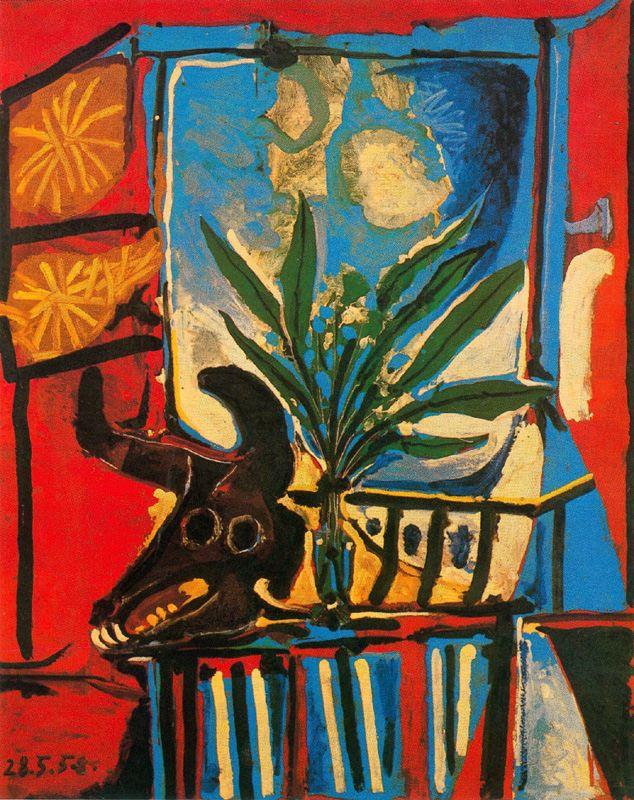 Пабло Пикассо. Натюрморт с головой быка