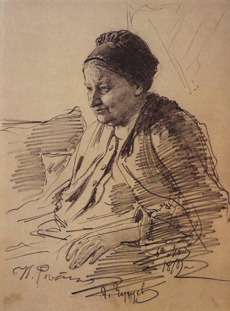 Илья Ефимович Репин. Портрет Т. С. Репиной, матери художника