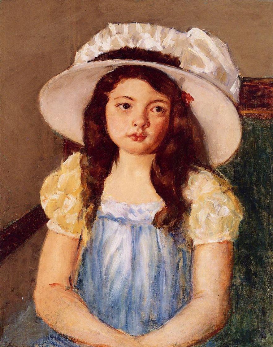 Mary Cassatt. Francoise in a big white hat