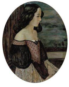 """Ivan Ivanovich Zakharov. Portrait of Natalia Nikolaevna Agapieva (""""Portrait of My Wife"""")."""