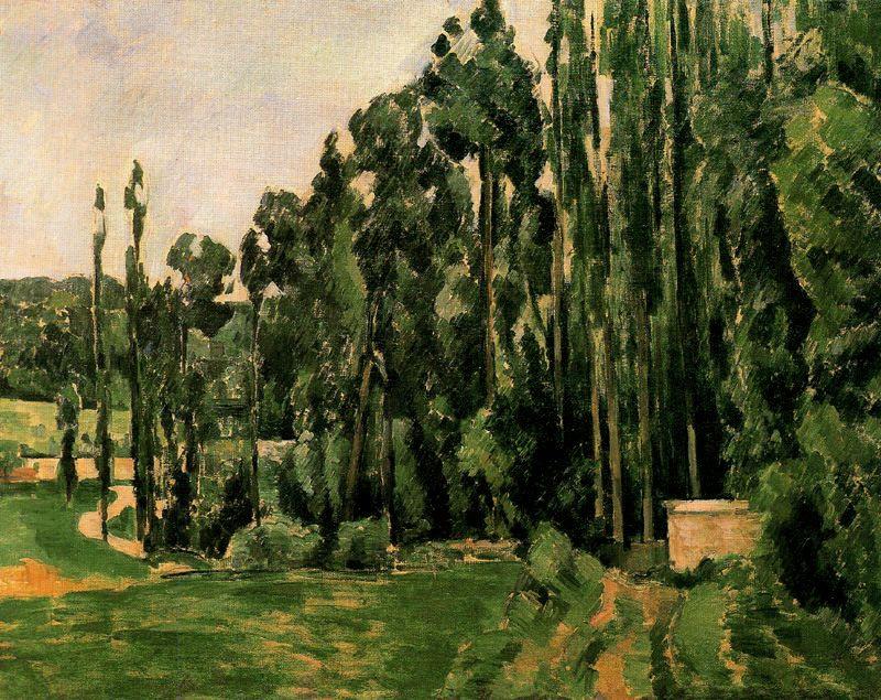 Paul Cezanne. Poplar