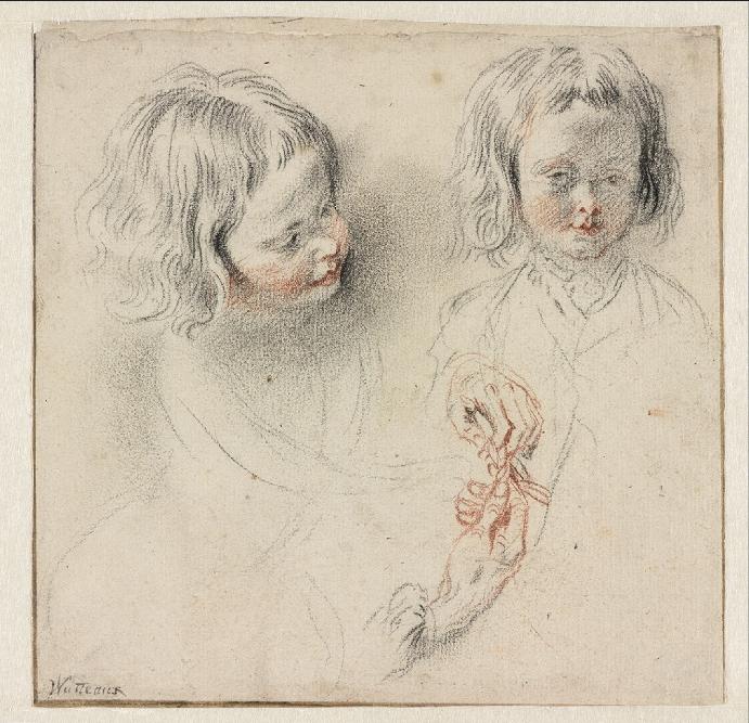 Антуан Ватто. Два эскиза мальчика