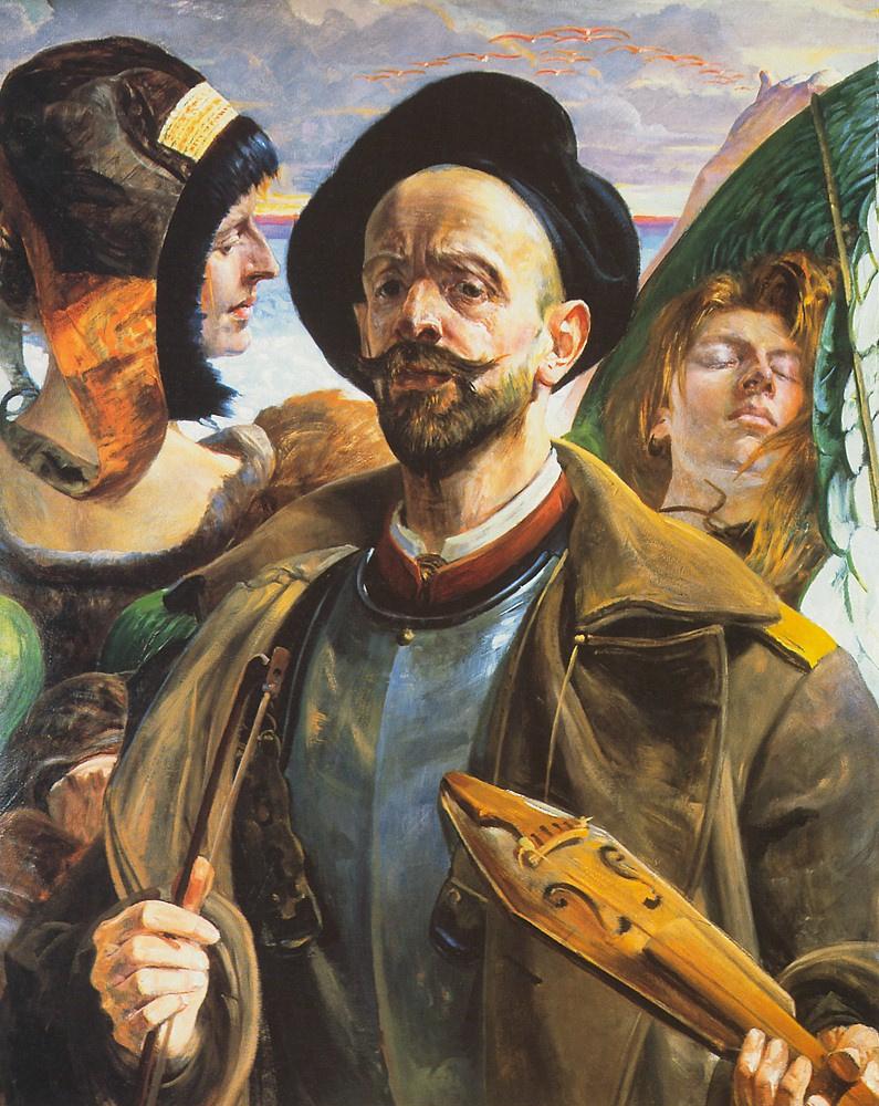 Jacek Malchevsky. Self Portrait with Violins