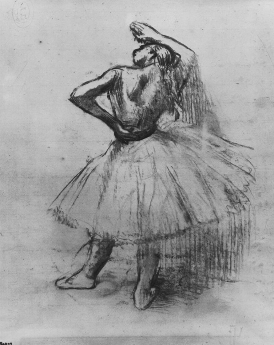 Edgar Degas. Dancer with raised right hand