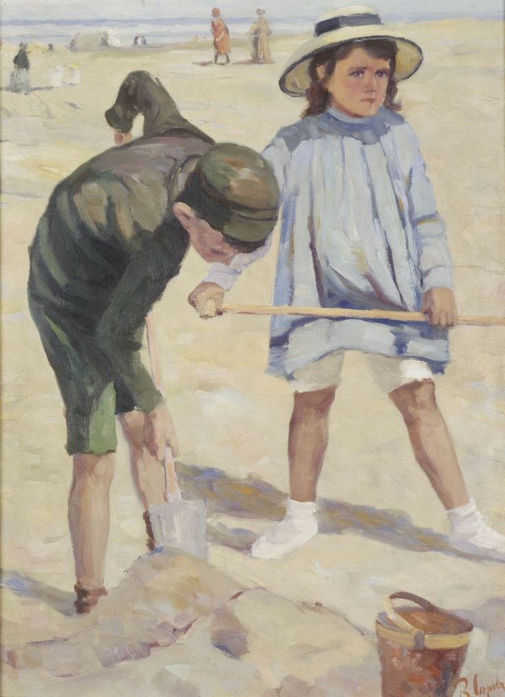 Valentin Aleksandrovich Serov. Children on the beach