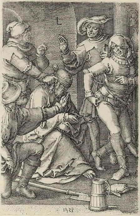 Лукас ван Лейден (Лука Лейденский). Осмеяние Христа