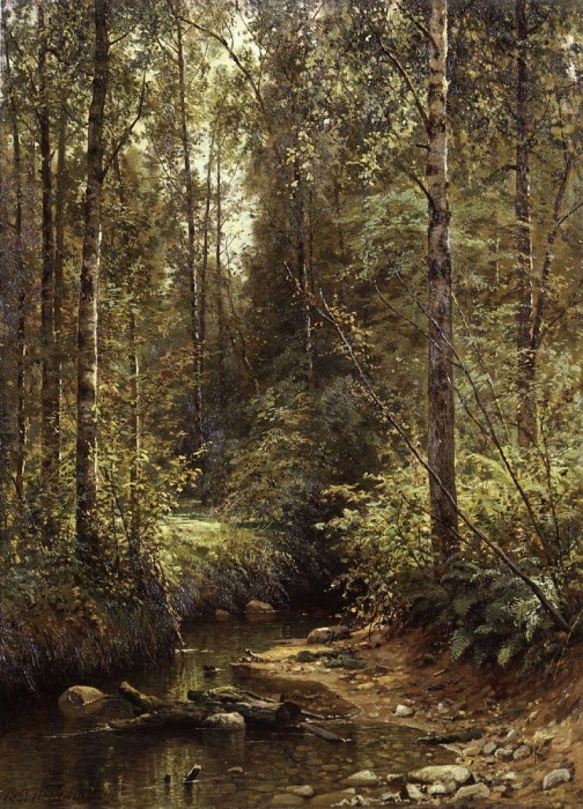 Ivan Shishkin. Forest stream