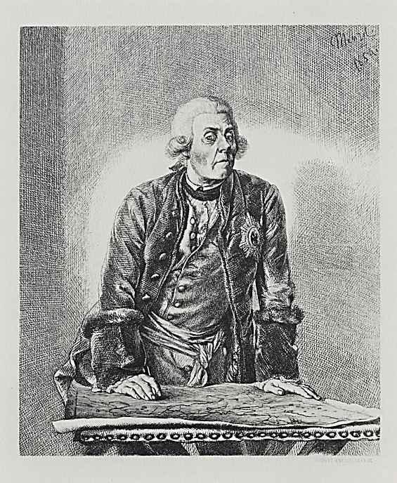 Адольф фон Менцель. Принц Генрих Прусский, брат Фридриха II